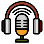 microphone with headphones icon