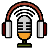 microphone with headphones icon